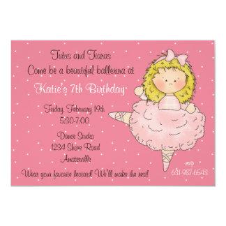 Bailarina de Blondie Convites Personalizado