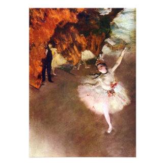 Bailarina de Prima por Edgar Degas arte do balé Convites Personalizados