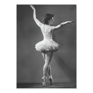 Bailarina no tutu convite 12.7 x 17.78cm