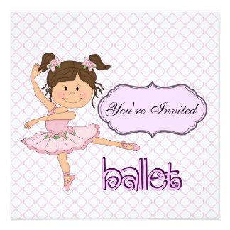 Bailarina roxa convite personalizados