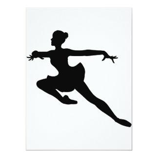 """Bailarina (silhueta do dançarino de balé) ~. de convite 16.51"""" x 22.22cm"""