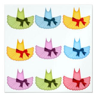 Bailarina - SRF Convite Quadrado 13.35 X 13.35cm