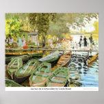 Bain de la Grenouillere de Les por Claude Monet Poster