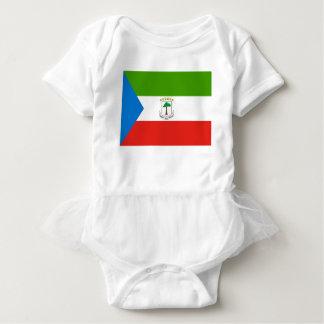 Baixo custo! Bandeira da Guiné Equatorial Body Para Bebê