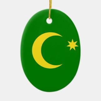 Baixo custo! Bandeira da ilha de Cocos Ornamento De Cerâmica Oval