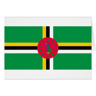 Baixo custo! Bandeira de Dominica Cartão