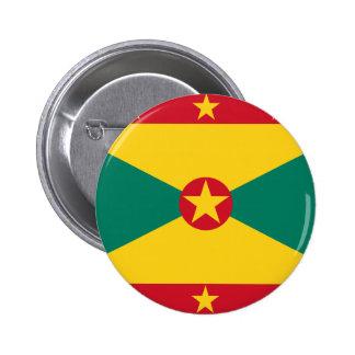 Baixo custo! Bandeira de Grenada Bóton Redondo 5.08cm