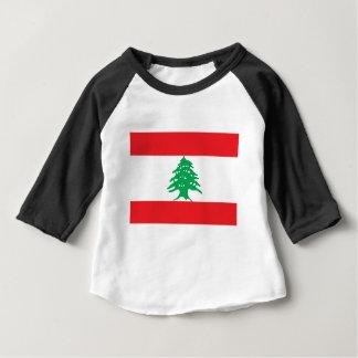 Baixo custo! Bandeira de Líbano Camiseta