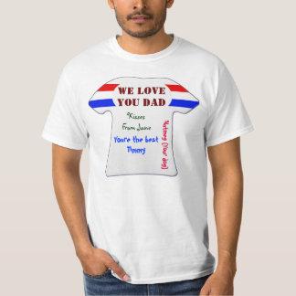 Baixo custo nós amamo-lo a camisa 2 do dia dos tshirt