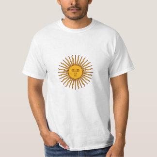 Baixo custo Sun dourado do valor T da bandeira de Tshirts