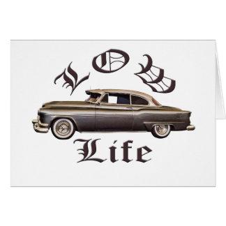 Baixo Lowrider de Oldsmobile da vida Cartões