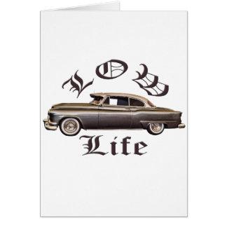 Baixo Lowrider de Oldsmobile da vida Cartão Comemorativo