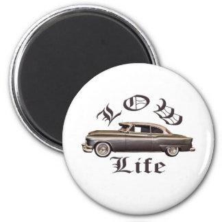 Baixo Lowrider de Oldsmobile da vida Ímã Redondo 5.08cm