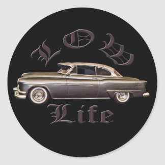 Baixo preto do Lowrider de Oldsmobile da vida Adesivo
