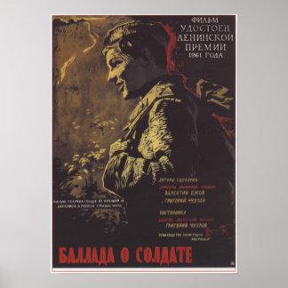 """""""Balada filme soviético 1961 de URSS de um soldado Impressão"""