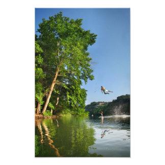 Balanço da corda do lago ladybird - Austin Texas Artes De Fotos
