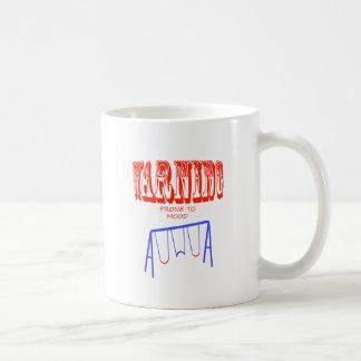 balanços de humor inclinados de advertência caneca de café