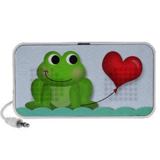 Balão bonito do coração do comedor de rãs - auto-f caixinha de som para notebook