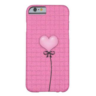 Balão cor-de-rosa feminino do coração capa barely there para iPhone 6