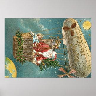 Balão da árvore de Natal dos presentes dos Poster