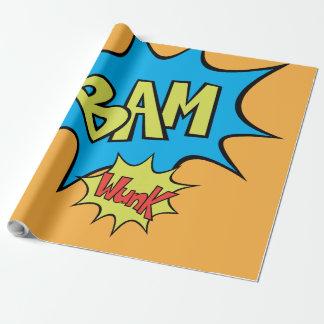 """Balão da banda desenhada """"Bam"""" Papel De Presente"""