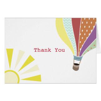 Balão de ar quente & cartões de agradecimentos de
