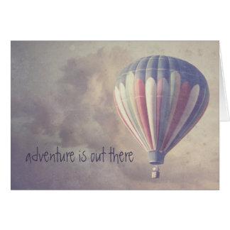 Balão de ar quente retro Ballooning do vintage do Cartão Comemorativo