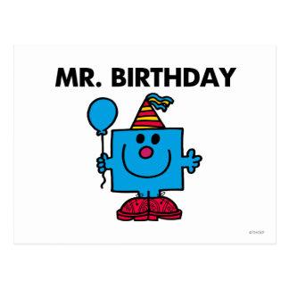 Balão do feliz aniversario do Sr. Aniversário | Cartão Postal