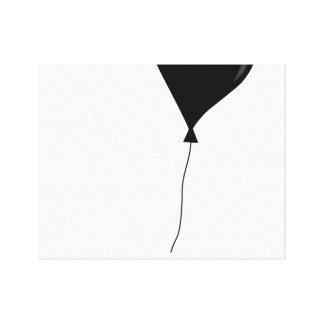 Balão do impressão da arte das canvas preto e impressão em tela