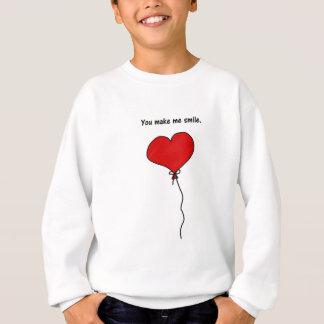 Balão vermelho do coração do amor você faz-me camisetas