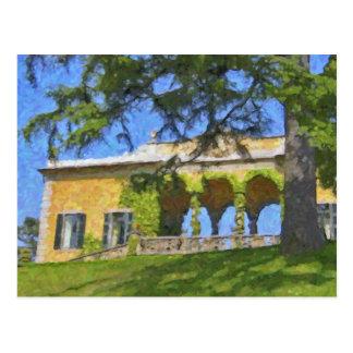 Balbianello Balaustre em Como, cartão Cartoes Postais