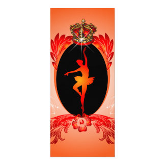 Balé, bailarina de dança convite 10.16 x 23.49cm