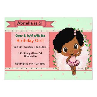 Balé do afro-americano ou festa de aniversário da convites