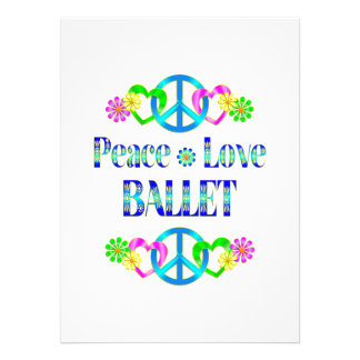 Balé do amor da paz convite