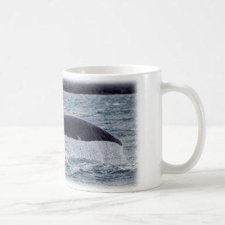 Baleia de uma cauda caneca de café