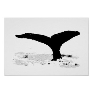 Baleia decorativa pôster