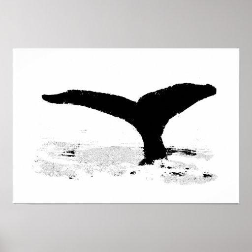 Baleia decorativa pôsteres