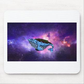 baleia do espaço mouse pad