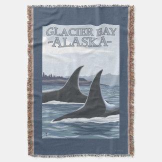 Baleias #1 da orca - baía de geleira, Alaska Coberta