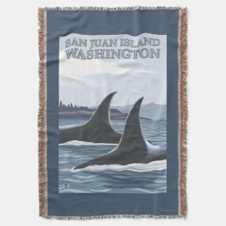 Baleias #1 da orca - ilha de San Juan, Washington Coberta