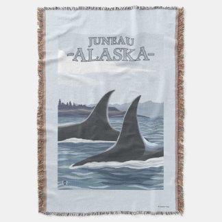 Baleias #1 da orca - Juneau, Alaska Throw Blanket