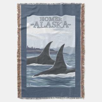 Baleias #1 da orca - local, Alaska Coberta