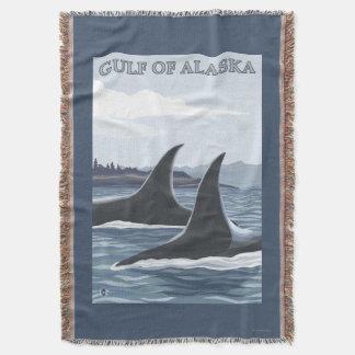 Baleias #1 da orca - o Golfo do Alasca Manta