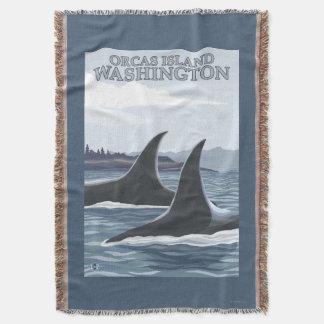 Baleias #1 da orca - orcas ilha, Washington Manta