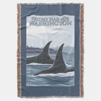 Baleias #1 da orca - porto de sexta-feira, coberta