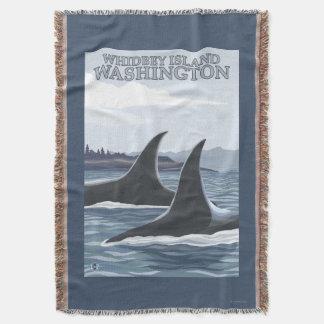 Baleias #1 da orca - Whidbey, Washington Throw Blanket