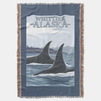 Baleias #1 da orca - Whittier, Alaska Throw Blanket