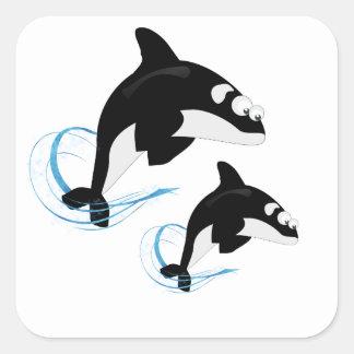 baleias adesivo quadrado