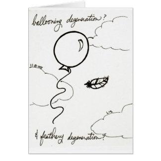 Ballooning & cartão Feathery da degeneração