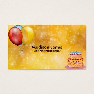 Balões coloridos cartão de visita